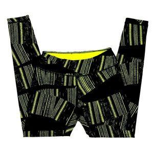 Zella Athletic Leggings Black Neon Green Size XS
